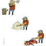 Lenhador (de ninja?!)