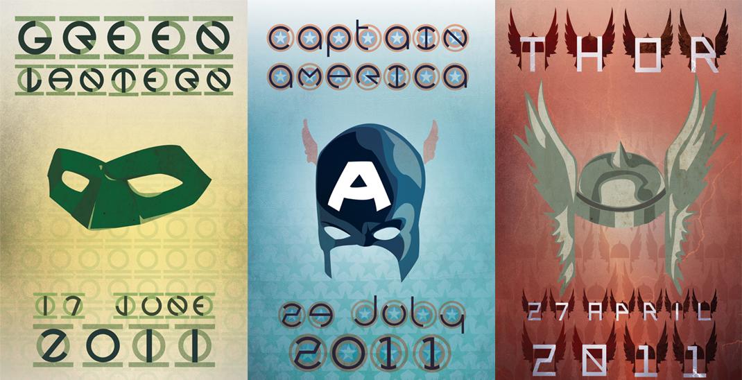 Populares Posters minimalistas de filme de heróis que estão chegando | Zona Nerd GE33