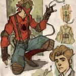 Homem Aranha ao estilo steampunk