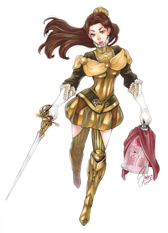 princesas disney medieval guerreiras 6