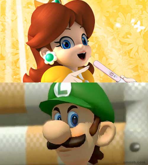 pregnancy-announcement-meme-luigi-death-stare