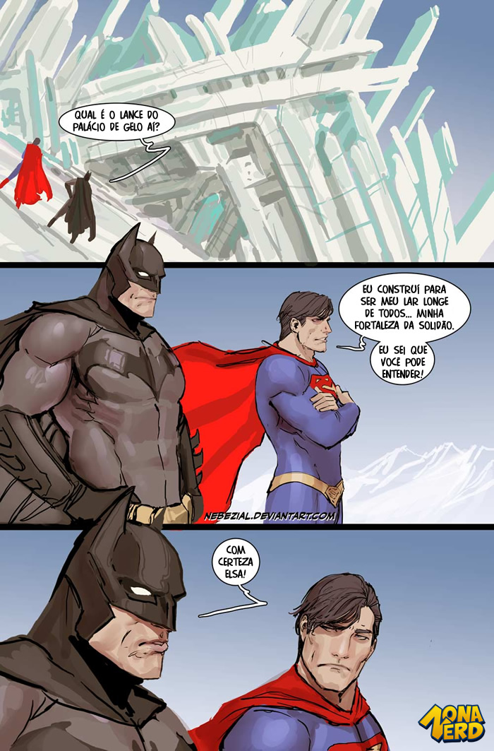 superman batman frozen comic