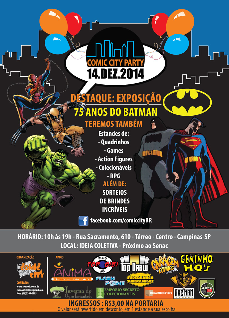 comic city party 2014 zona nerd