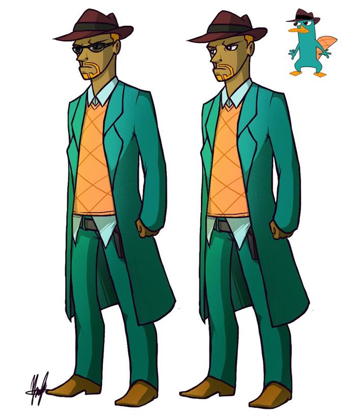 Ilustrações De Personagens Animados Como Se Fossem Humanos