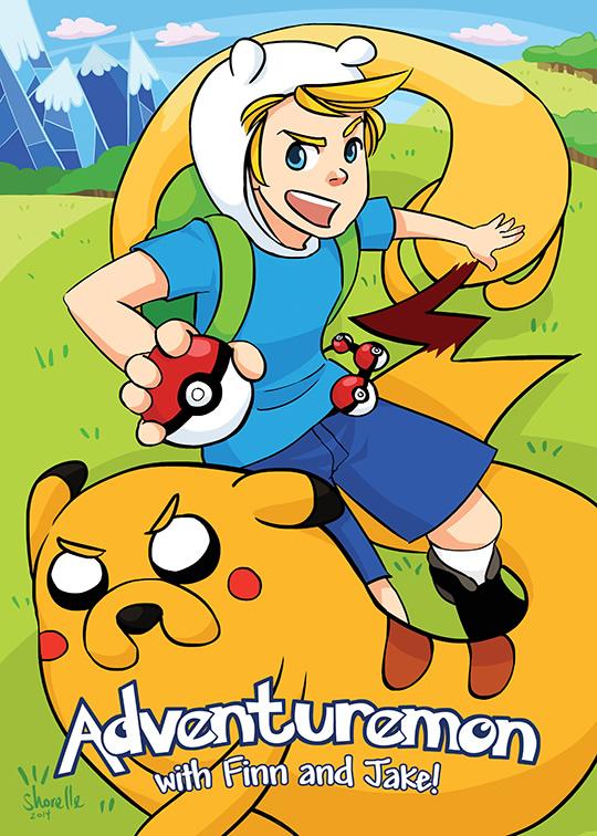 hora de aventura pokemon 1 finn jake