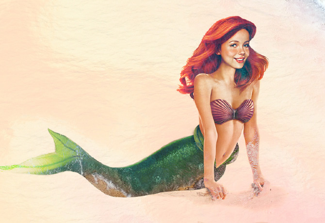princesas disney vida real 02 littlemermaid