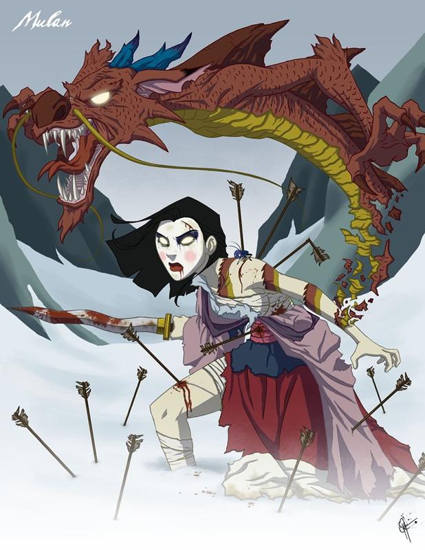 twisted princess 12 zona nerd mulan