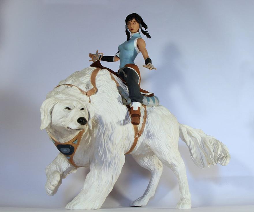 estatua korra aang action figure statue