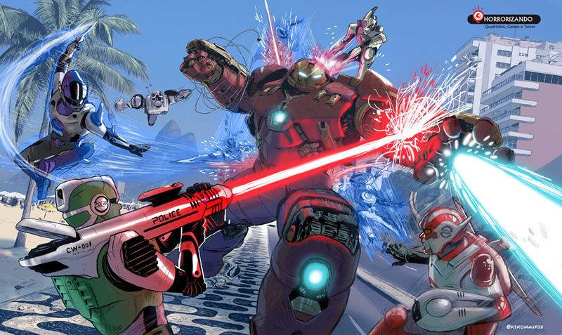 manchete vs marvel herois 03 hulkbuster cybercops