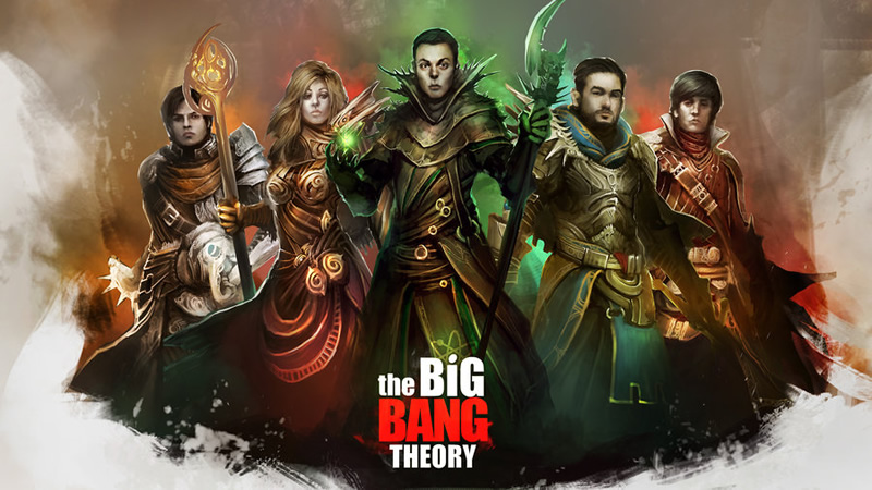 the big bang theory aventureiros rpg 01