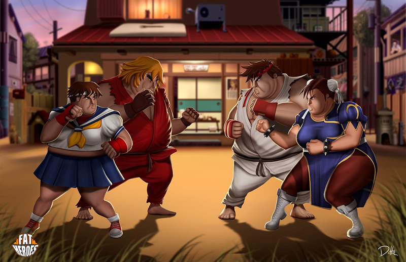 herois gordos 03 street fighter