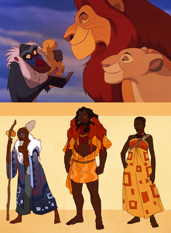 personagens disney fossem humanos 03