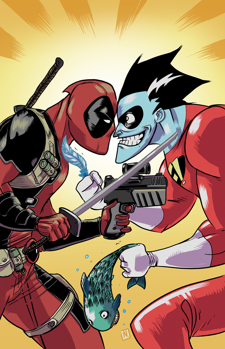 deadpool-vs-freakazoid-fan-art