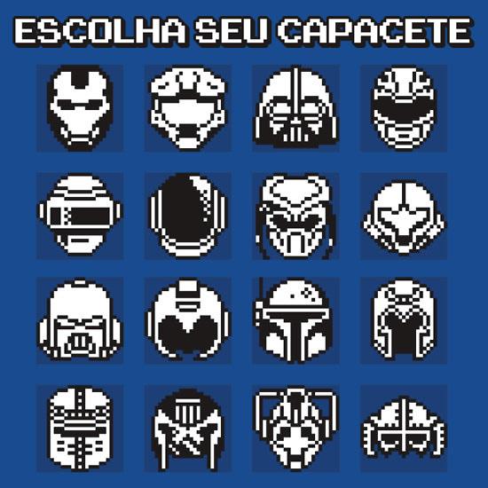 escolha seu capacete heroi games zona nerd