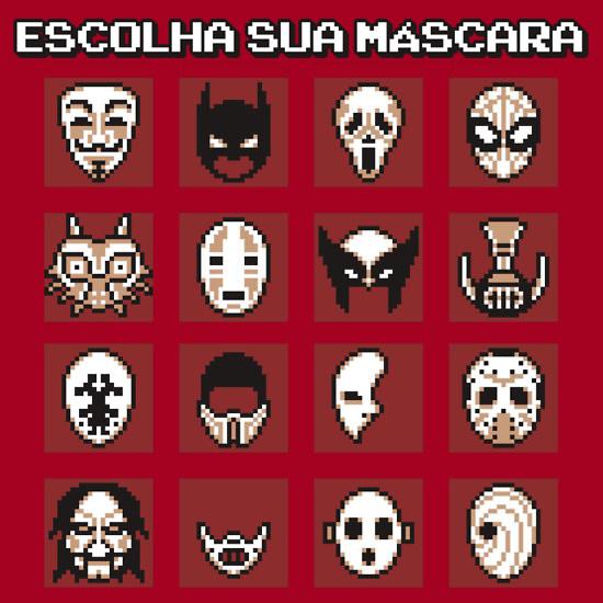 escolha sua mascara heroi games zona nerd