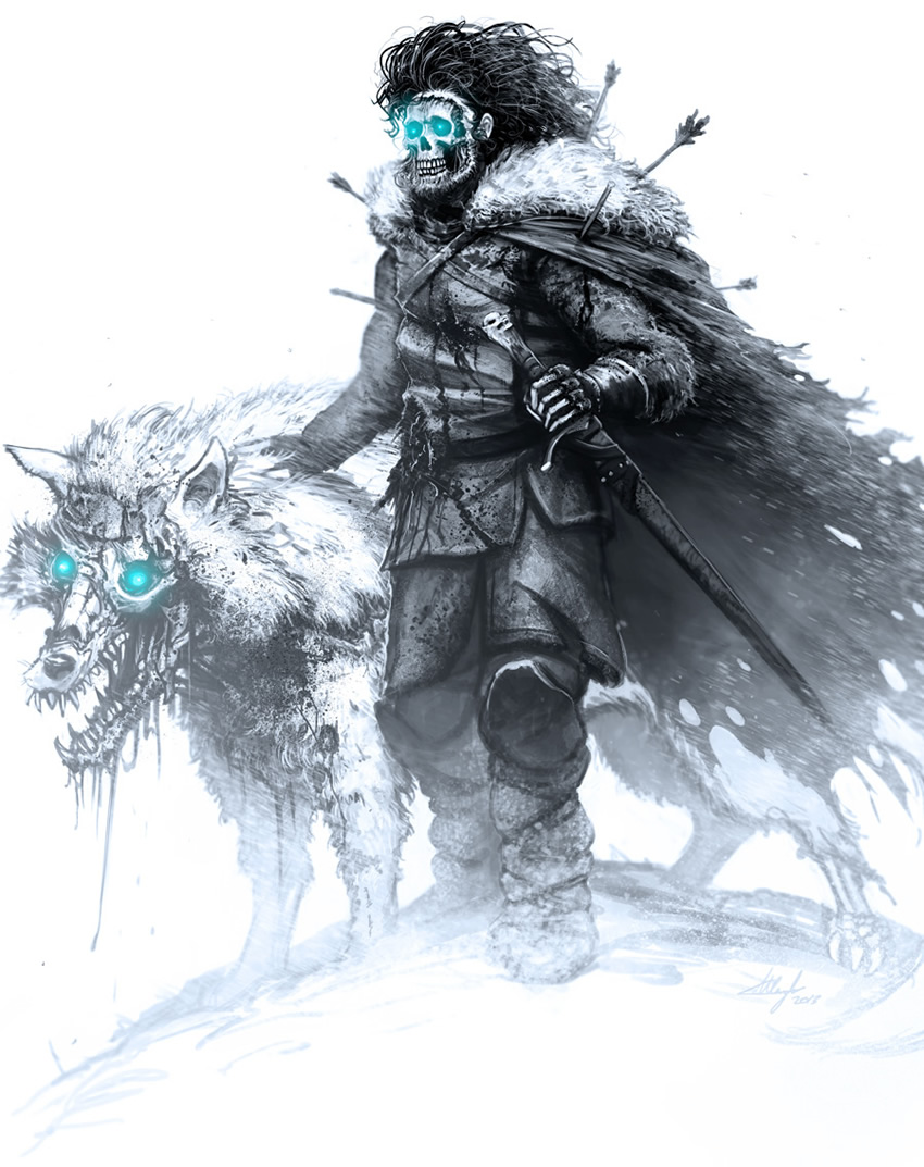 game of thrones perdessem white walker 01 jon snow