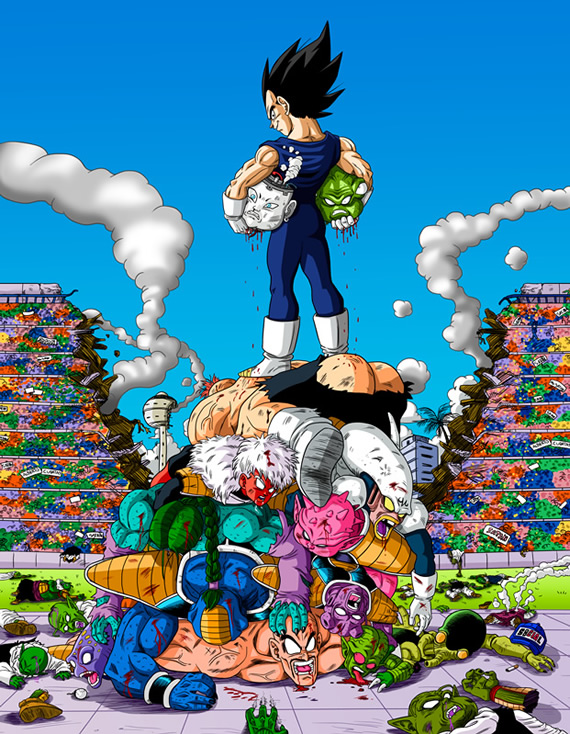 mortes dragon ball 02 vegeta
