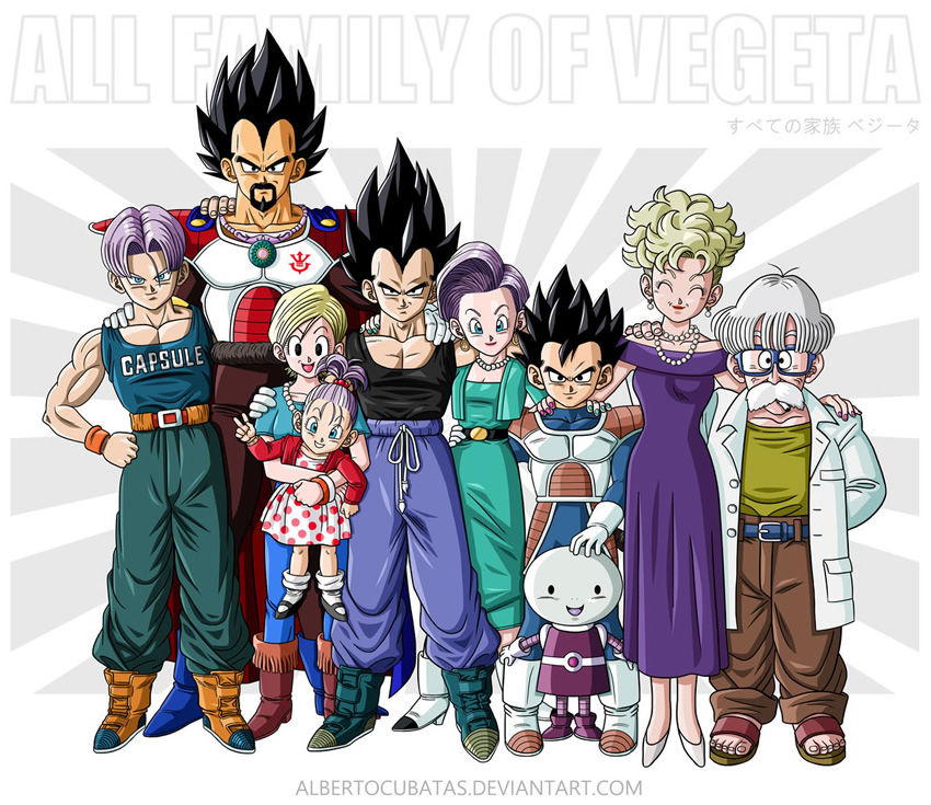 retrato familia dragon ball 2 vegeta