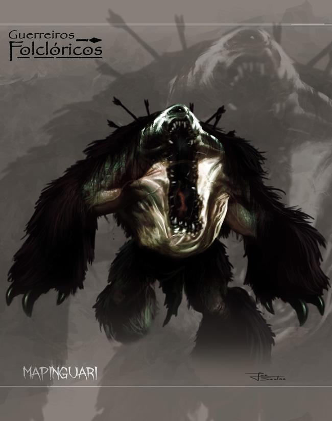 guerreiros folcloricos 7 mapinguari