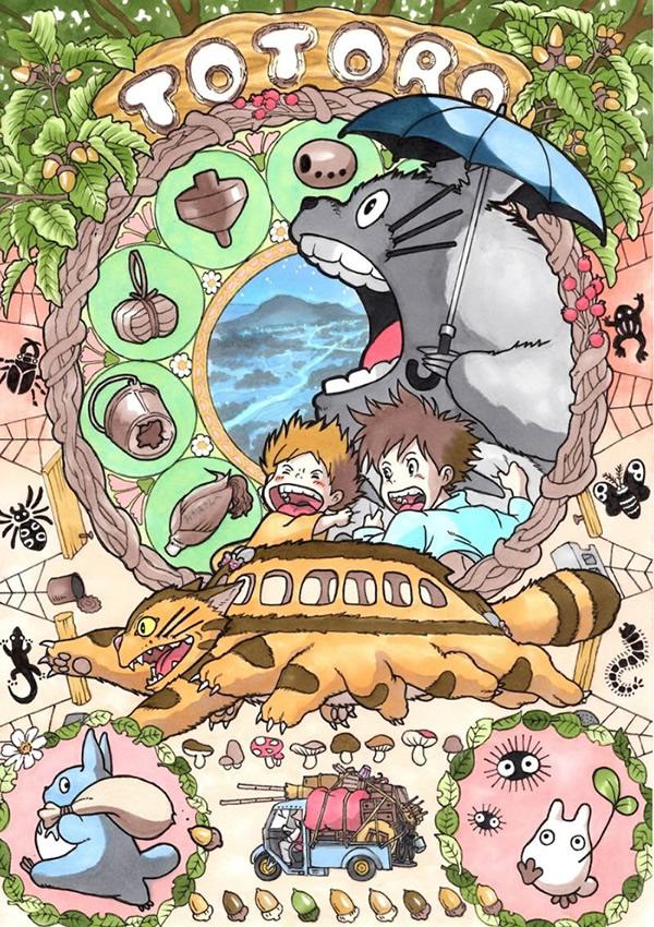 art nouveau hayao miyazaki ghibli 01