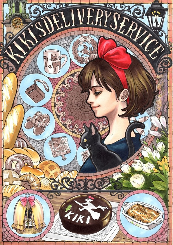 art nouveau hayao miyazaki ghibli 03