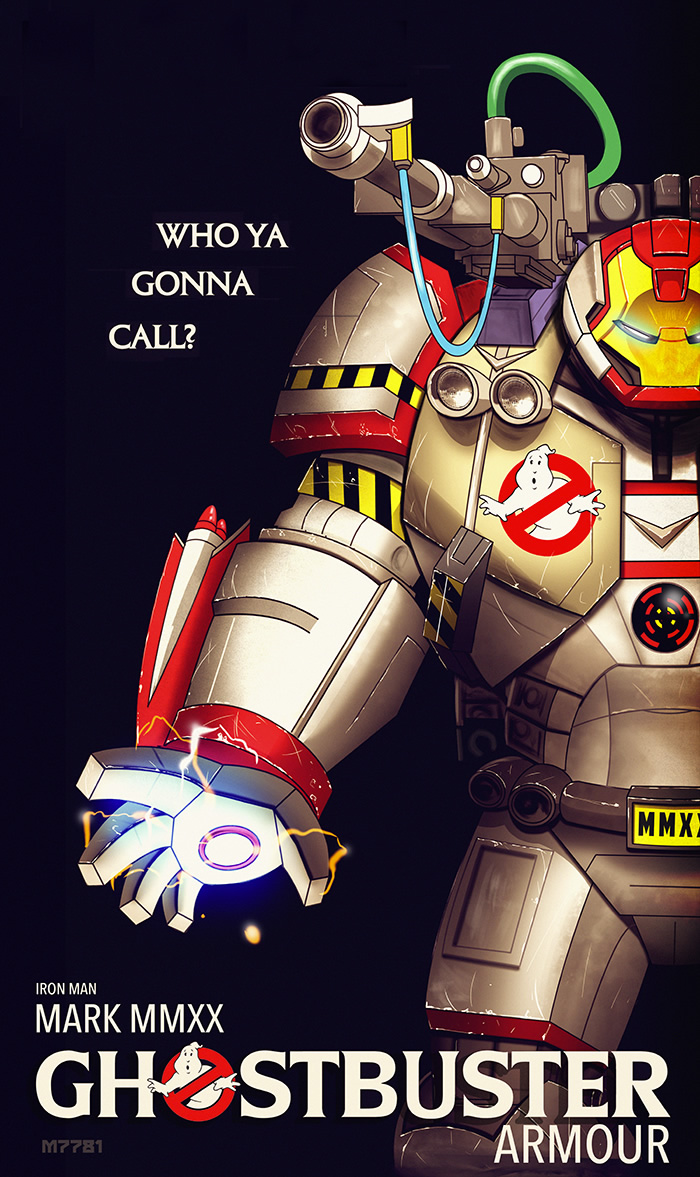 iron man ghostbuster armour