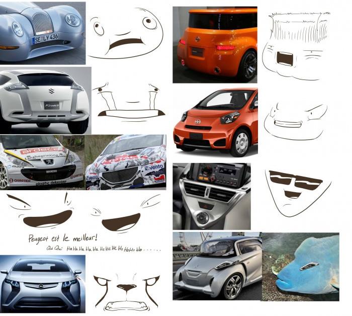 rostos em carros 3