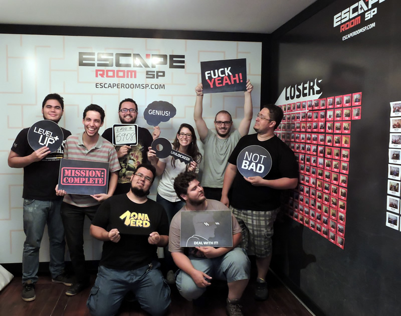 escape room sp zona nerd lado b ganharam