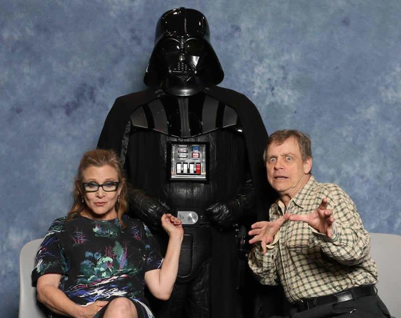 foto em familia star wars