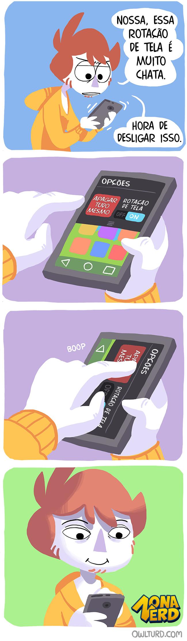 rotacao de tela smartphone celular