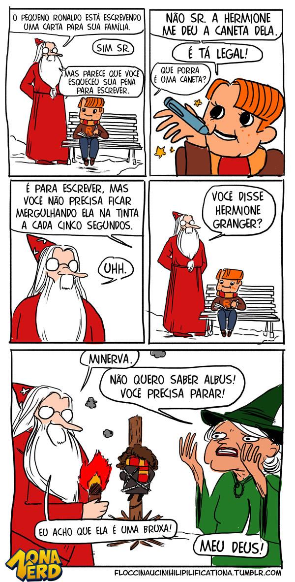 dumbledore caneta hogwarts bruxa hermione
