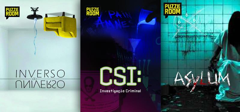 salas puzzle room asylum csi inverso do universo