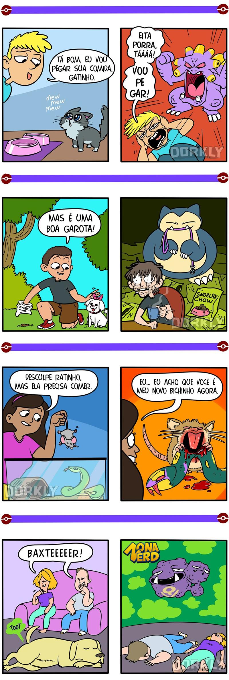 pokemons animais estimacao tirinha