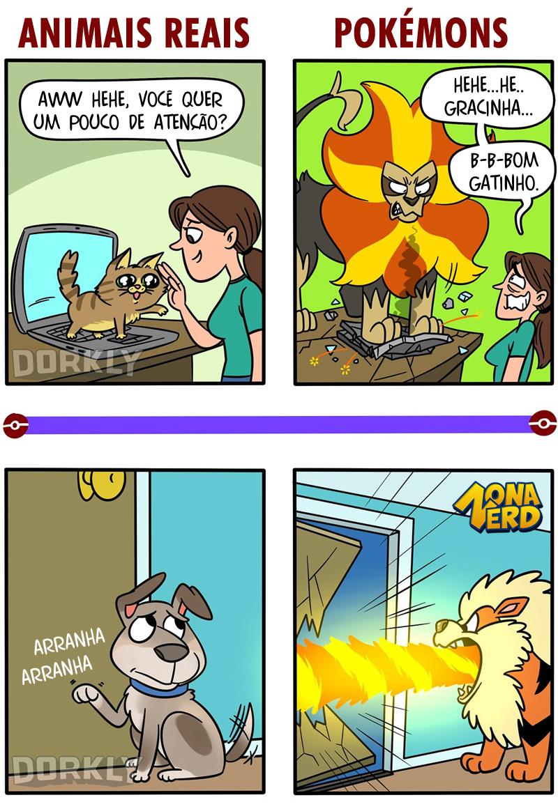 pokemons reais tirinha