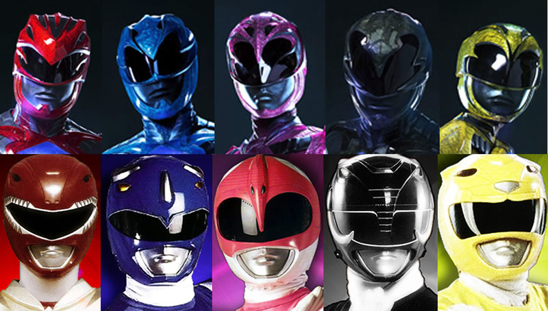 comparacao power rangers capacete reboot