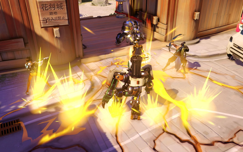 overwatch tracer hanzo heroes gameplay