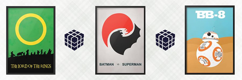 posters star wars batman superman aneis