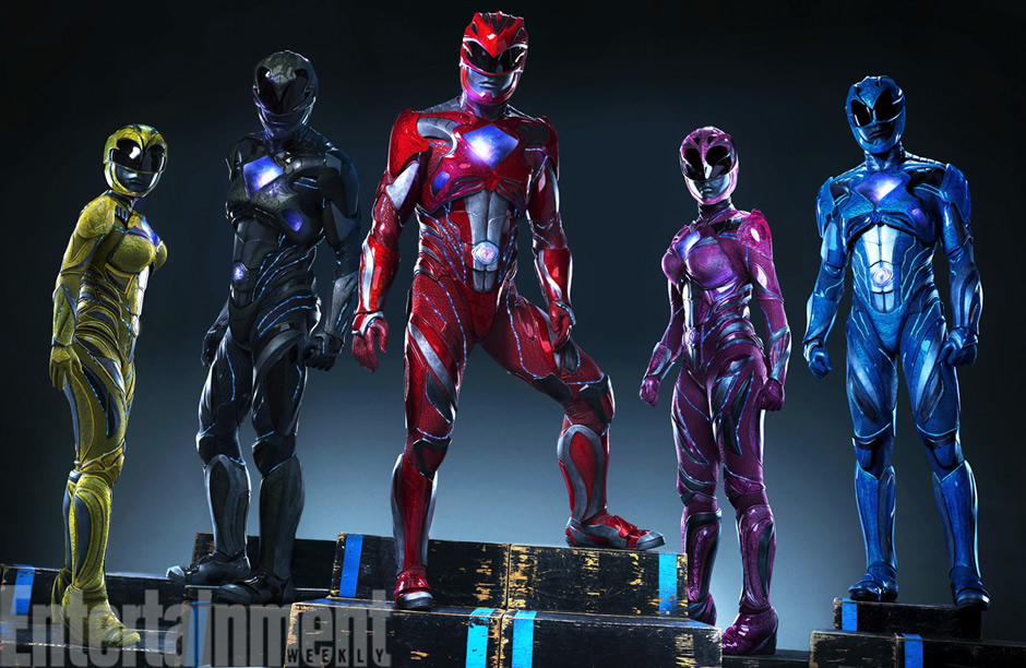 power rangers uniforme filme reboot 2017