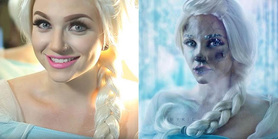 princesas disney destito maquiagem 1