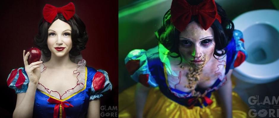 princesas disney destito maquiagem 2
