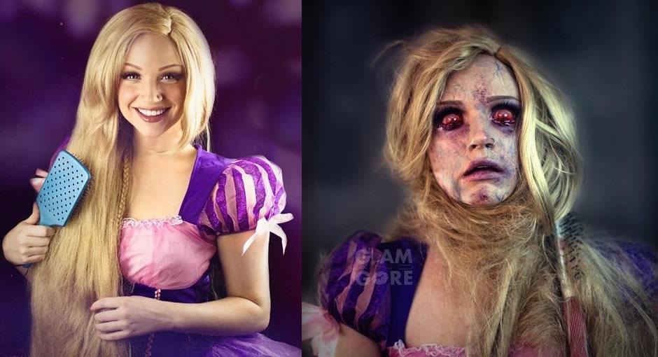 princesas disney destito maquiagem 4