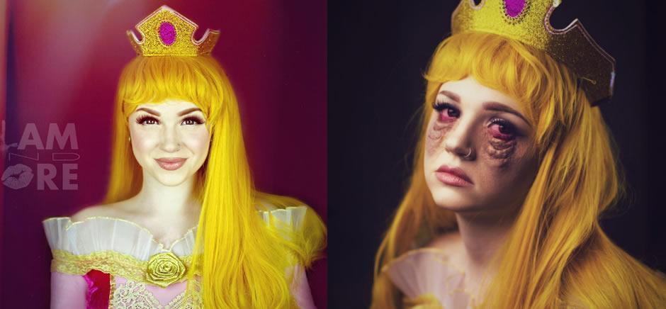 princesas disney destito maquiagem 5