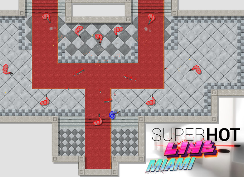superhot line miami flash game