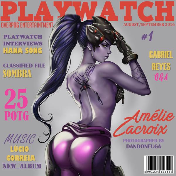 Heroinas De Overwatch Ilustram Capas Ficticias Da Playboy Zona